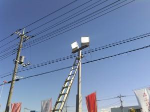 新規照明点灯確認