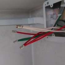 換気扇取付-配線圧着